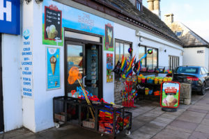 Toys for sale outside the beach shop on shore road in Swanage