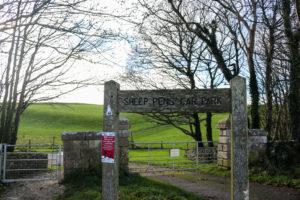 sheeps pen car park for Swyre Head
