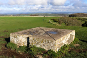 Stone slab on top of the Swyre Head tumulus