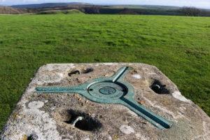 Ordnance Survey trig point at Swyre Head