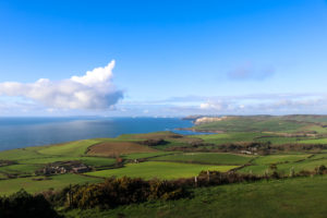 View from Swyre Head toward Kimmeridge and beyond