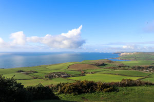 View across land and sea from Swyre Head