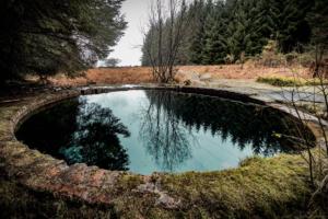 The four-metre deep blue pool of Tor Wood