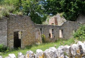 Ruined house in Tyneham village