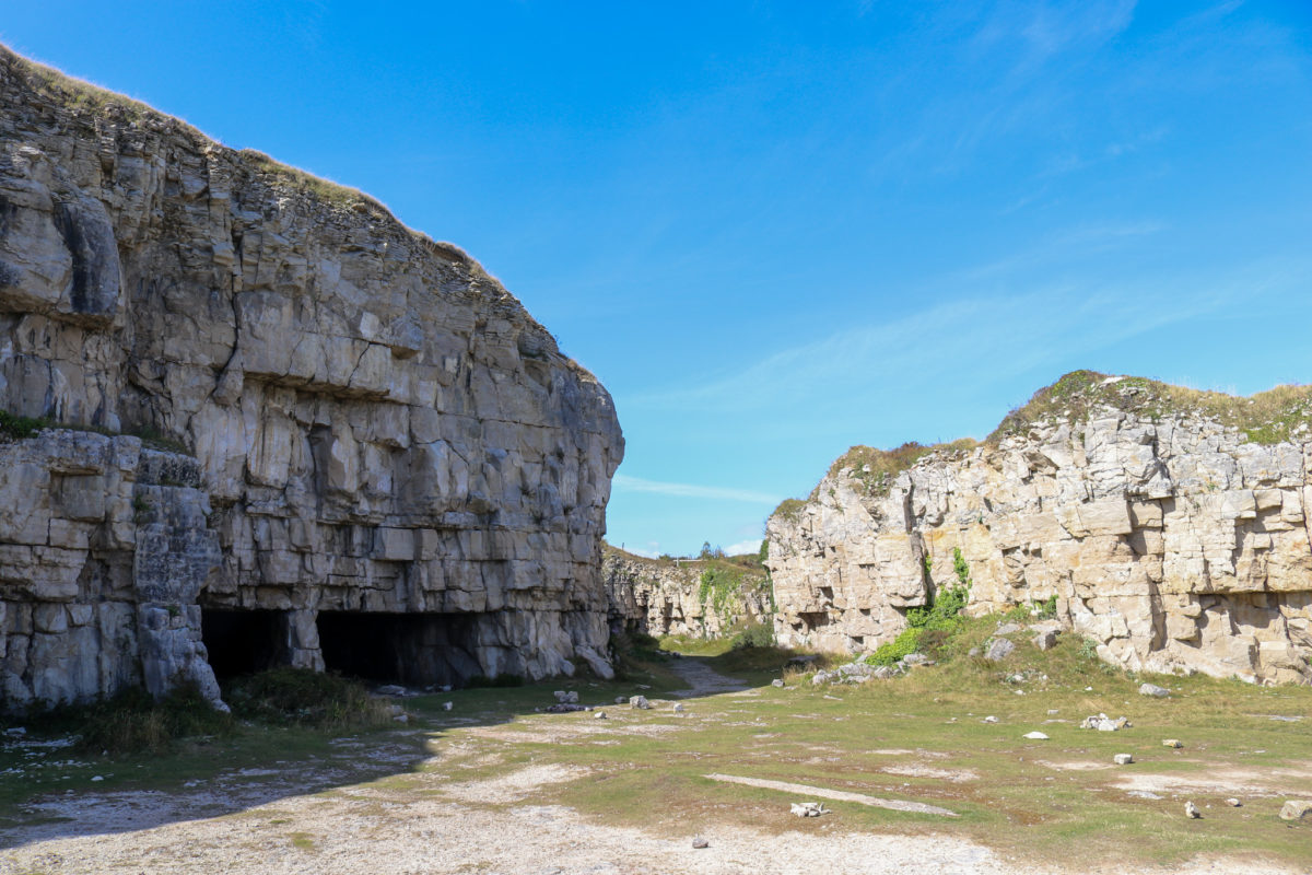 Entrance to the disused Winspit quarry caves