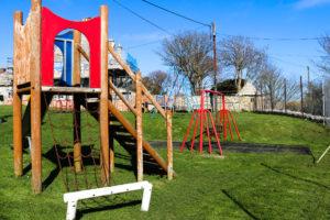 Climbing frame in the children's playground at Worth Matravers