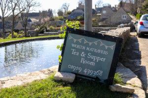 Sign outside Worth Matravers Tea & Supper Room