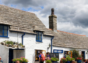 Pasty hatch at The Square and Compass in Worth Matravers village