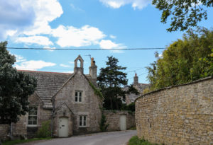 House on a street in Worth Matravers village