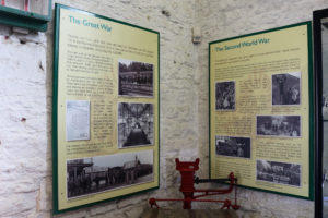 Information boards at Swanage Railway museum