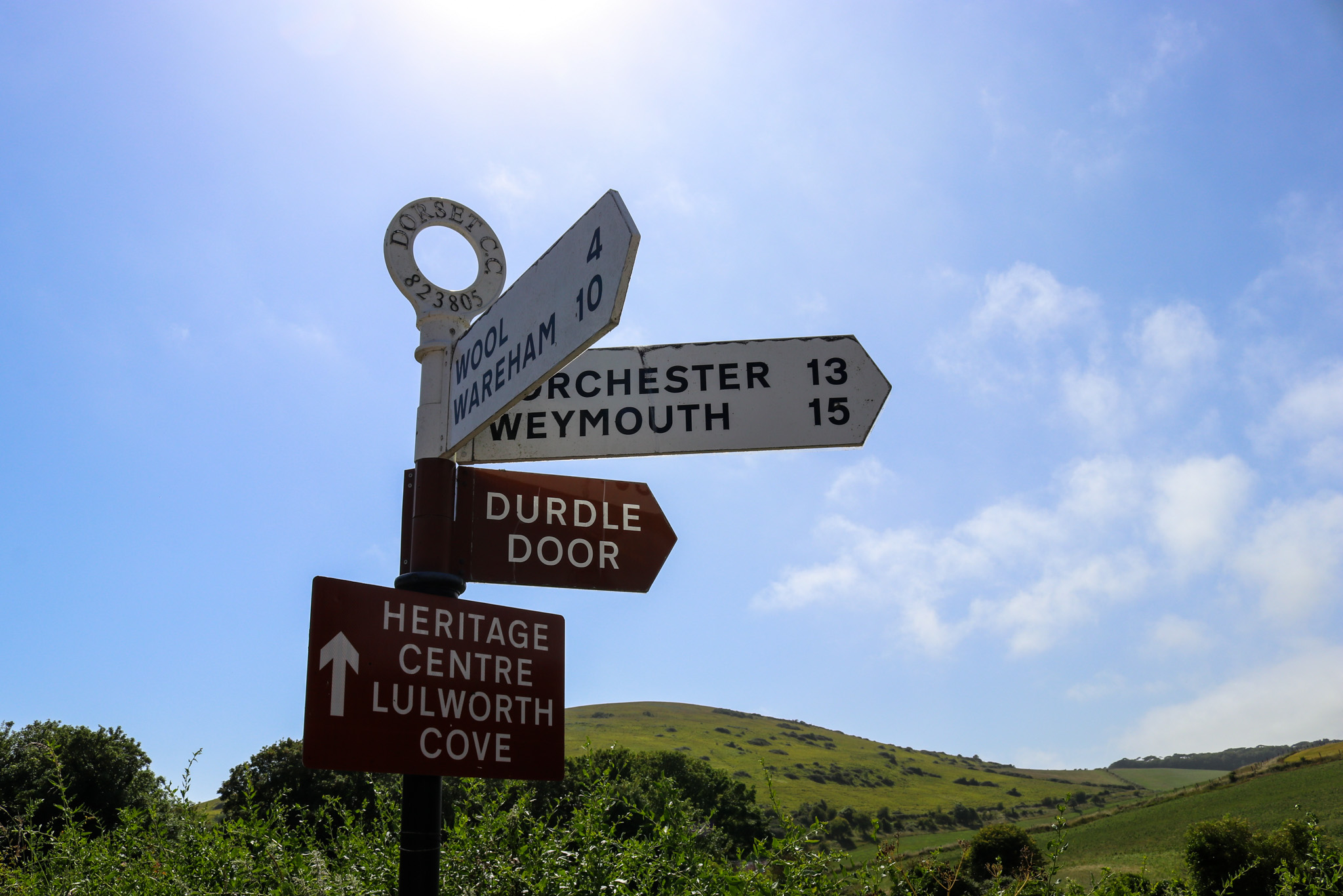 Signs at Lulworth Cove
