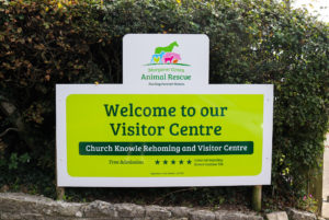 Sign outside the Margaret Green Animal Rescue Centre