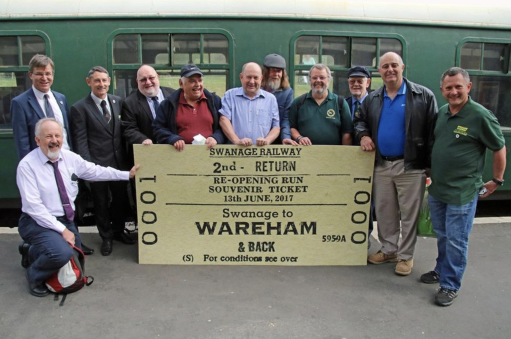 Volunteers celebrate first train from Wareham in 45 years