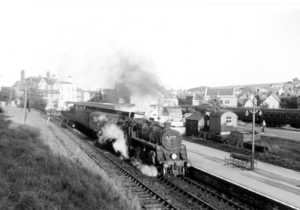 The No. 76010 leaves Swanage on 4 September, 1966