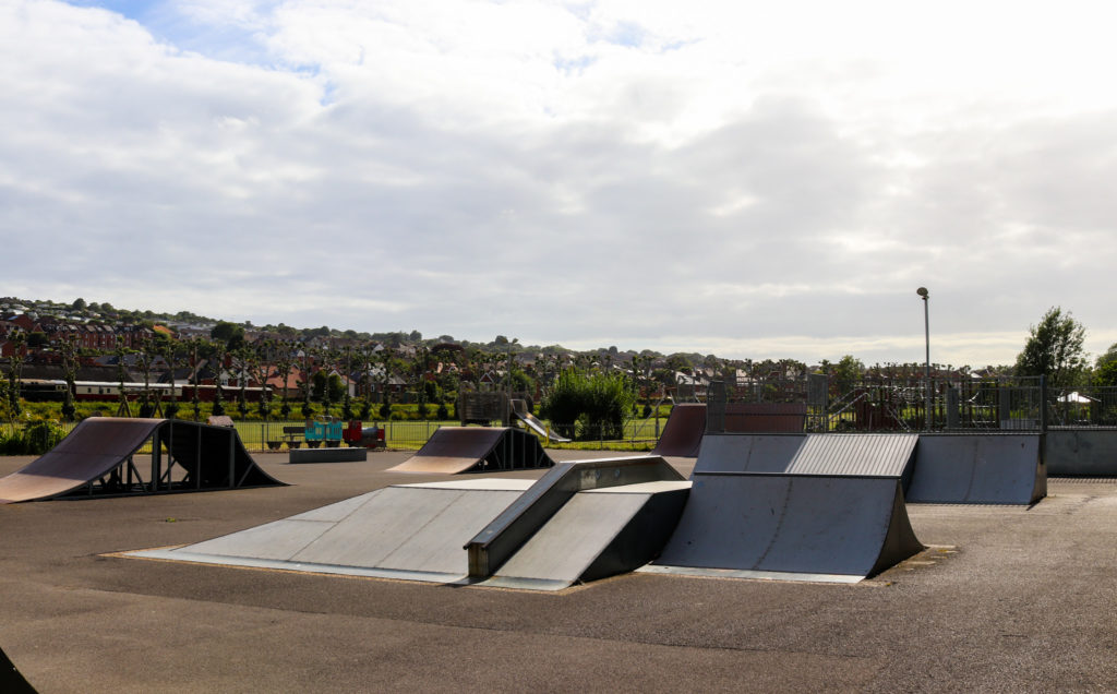 Swanage skate park ramps