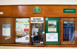 Swanage Railway ticket office window