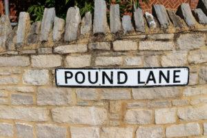 Wareham Pound Lane road sign