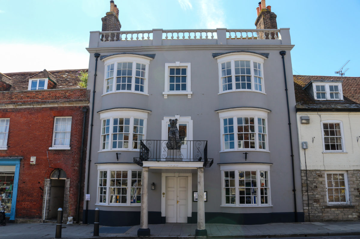 Front view of The Bear Wareham hotel and restaurant