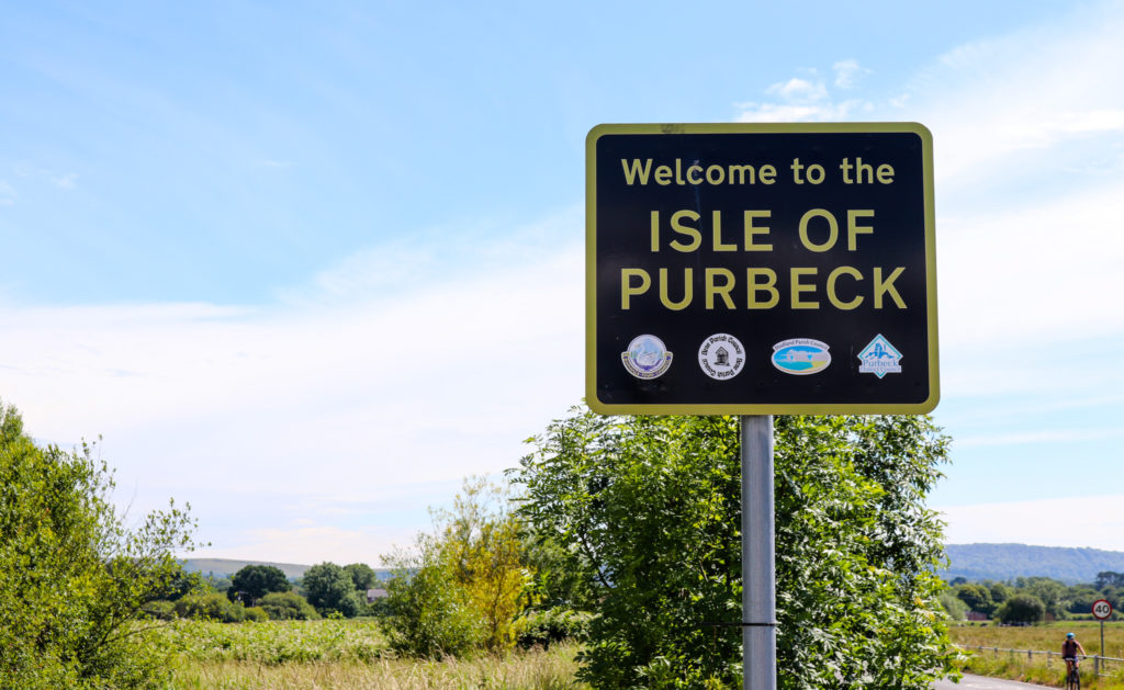Isle of Purbeck sign in Wareham