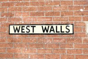 Wareham West Walls road sign