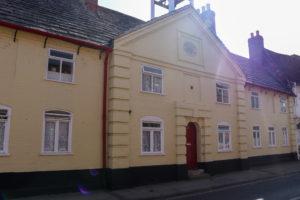 Almshouses on East Street in Wareham