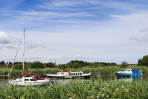 Boats on the River Frome in Wareham