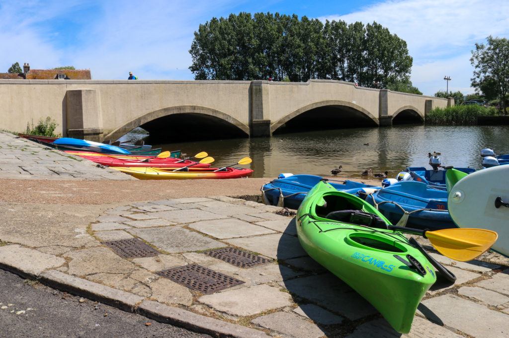 Green river kayak by Wareham bridge