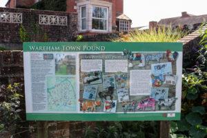 Wareham pound information board