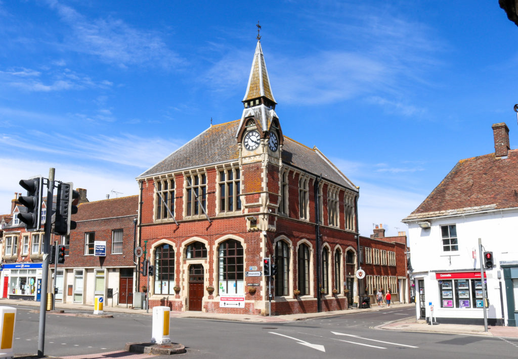 Red brick town hall in Wareham
