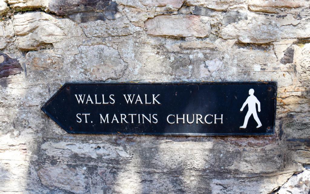 Wareham Walls and St Martin's Church sign