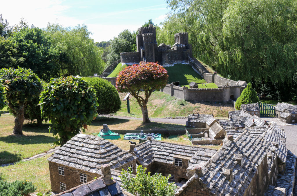 Model of Corfe Castle at model village