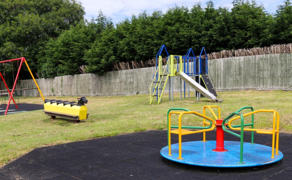 Playground equipment in Corfe Castle