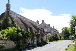 Thatched cottages on West Street in Corfe Castle