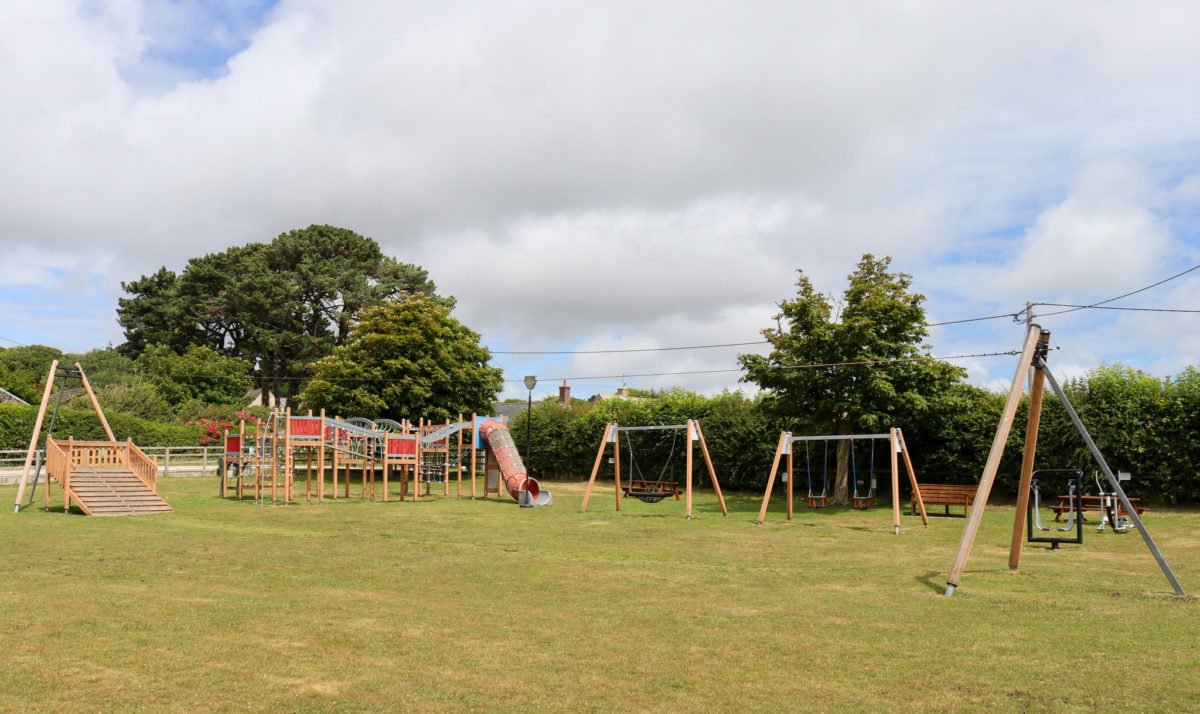 Playground with zip wire at Harman's Cross