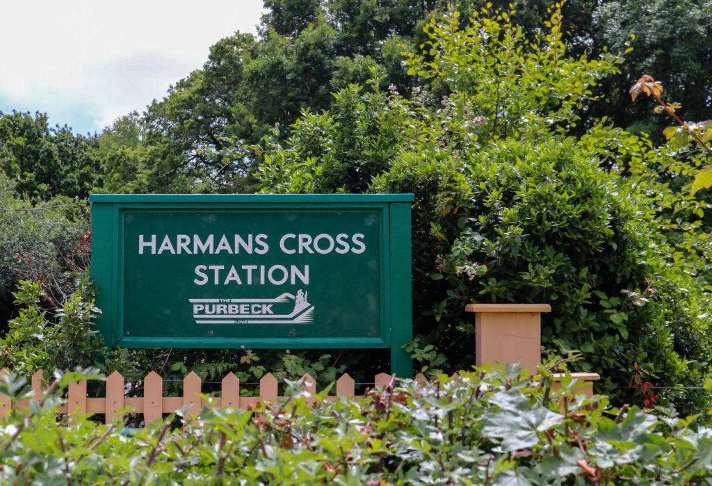 Harman's Cross station sign