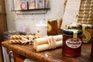 Jam and candlesticks in East Lulworth gift shop