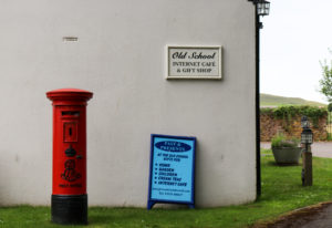 Postbox by Past and Presents gift shop in Lulworth