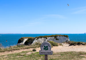 Old Harry Rocks National Trust sign