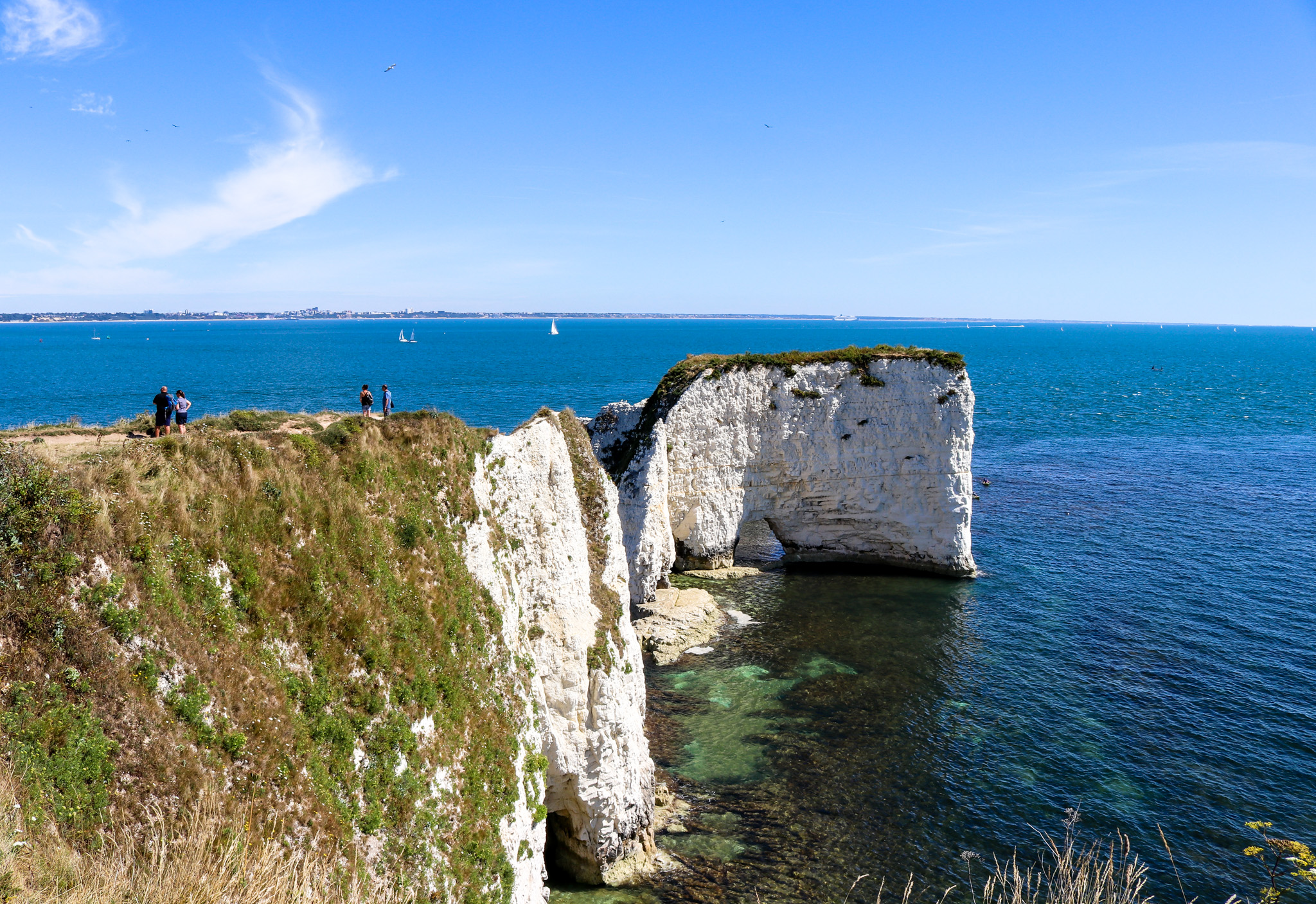 Old Harry Rocks sea view
