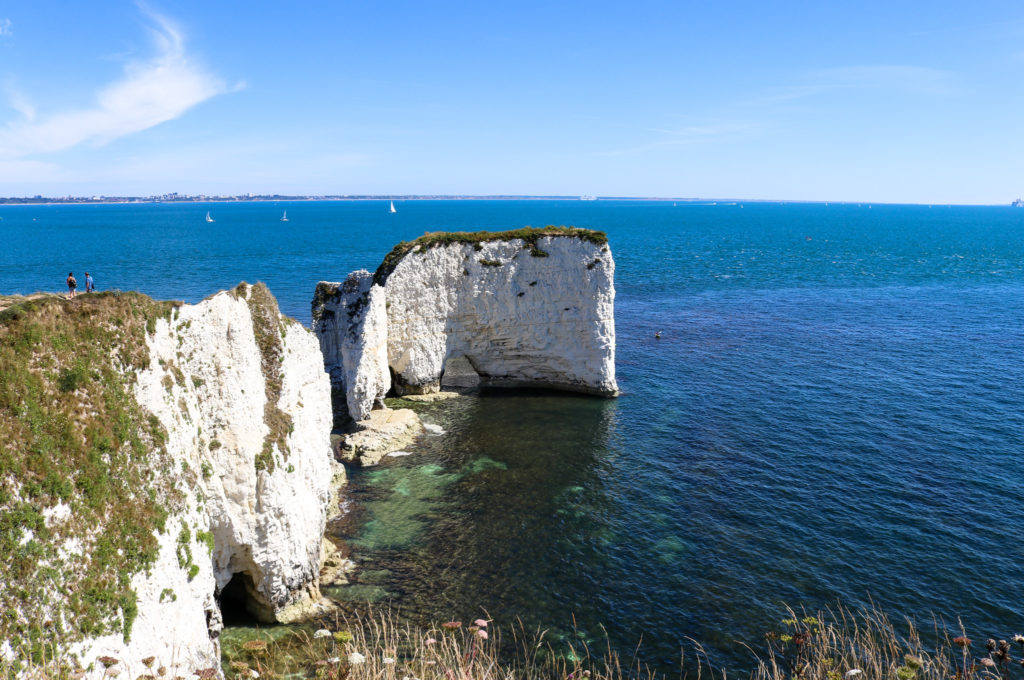 Old Harry Rocks and sea at Studland