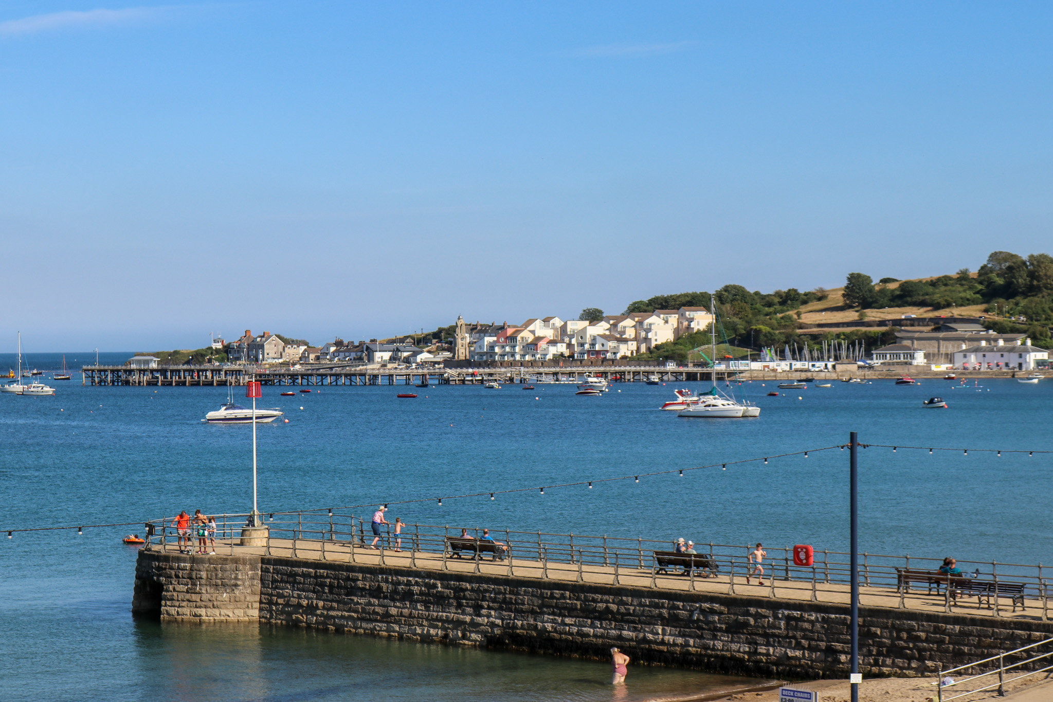Boats in Swanage Bay