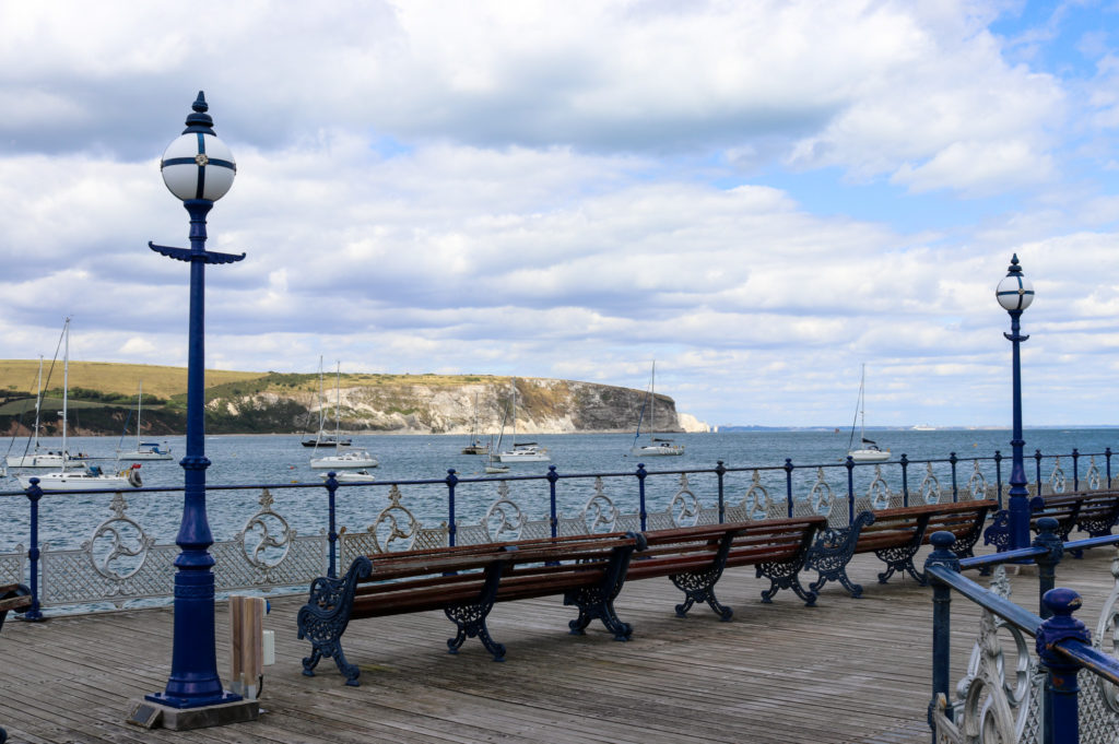 Benches along Swanage Pier