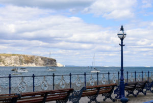 Old Harry Rocks viewed from Swanage Pier