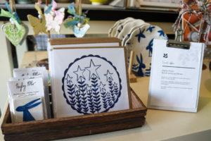 Local artist cards and ceramics in Corfe Castle