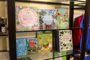 children's books for sale in Corfe's National Trust shop