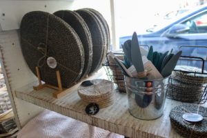 Kitchenware for sale in Corfe Castle's National trust shop