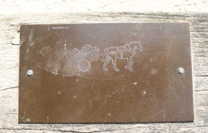 Corfe Castle horse and cart brass rubbing plate