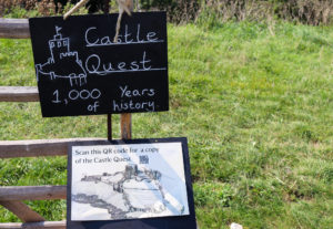 Corfe Castle quest challenge information board