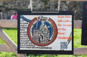 Corfe Castle rune challenge poster with Edward the Martyr depicted
