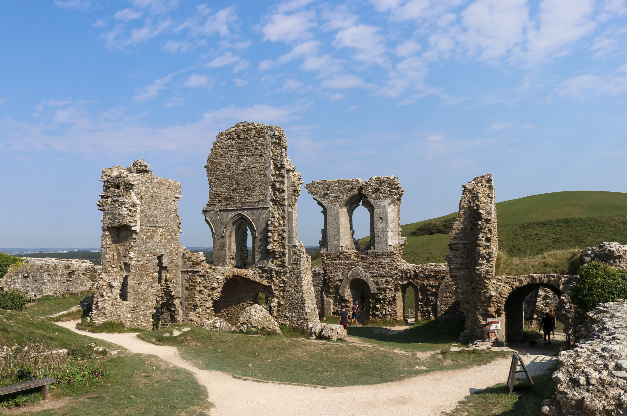 Ruined top section of Corfe Castle